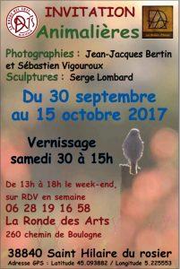photos animalières drôme jjbertin.fr 2019 affiche exposition la ronde des arts 2017 saint hilaire du rosier