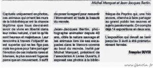 photos animalières drôme jjbertin.fr mars 2020 exposition bibliothèque de Peyrins 26380