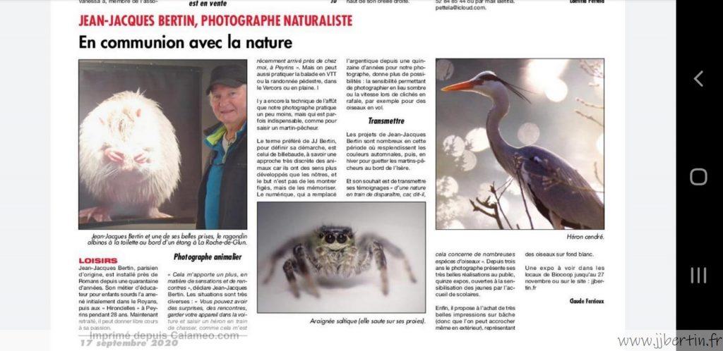 photos animalières drôme jjbertin.fr 2021 expo Biocoop Romans sur isère 10/11/2020